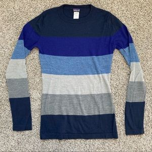 Patagonia Striped Merino Wool Sweater